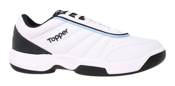 Zapatillas Topper Tennis Tie Break Iii Hombre Bl/mn