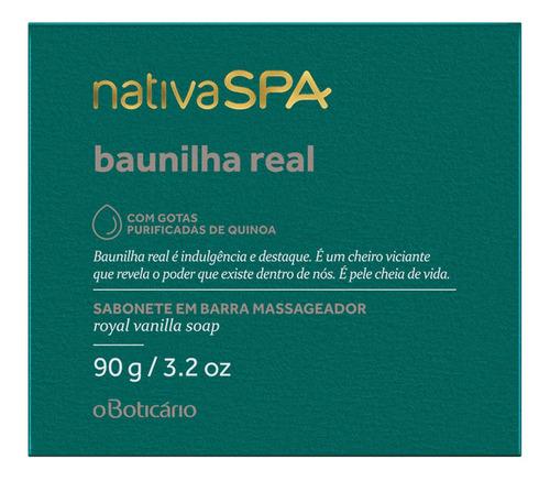 Sabonete Em Barra Nativa Spa Baunilha Real, 90g