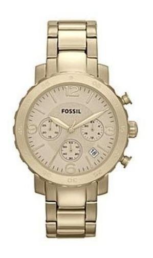 Relógio Fossil Am4422 Original Banhado A Ouro Frete Grátis