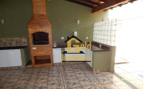 Casa Com 1 Dormitório À Venda, 180 M² Por R$ 271.000 - Jardim José Sampaio Júnior - Ribeirão Preto/sp - Ca0855