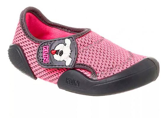 Tênis Infantil Klin New Confort Feminino - Pink E Grafite
