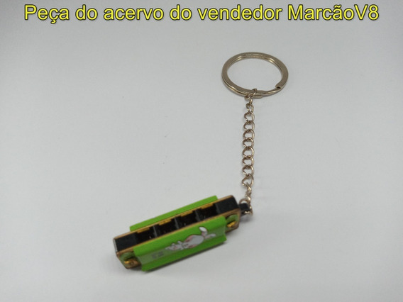 Chaveiro Em Formato De Mini Gaita Harmônica Funcional