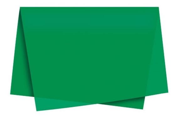 Papel De Seda 50x70 C/100 - Verde Escuro