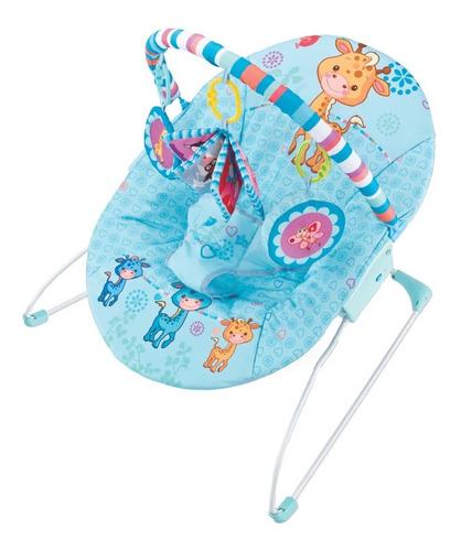 Cadeira De Descanso Musical Girafa Maxi Baby - Azul