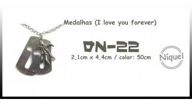 Colar Medalhas (i Love You Forever) (death Note)