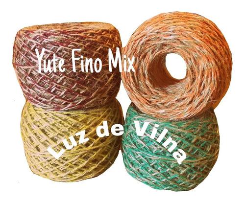 Hilo Yute Fino Mix Bicolor 1,5 Mm X 50 G Colores Sin Canuto
