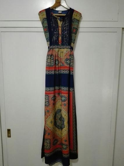 Hermosa Túnica/ Vestido Hindú, Estilo Rapsodia