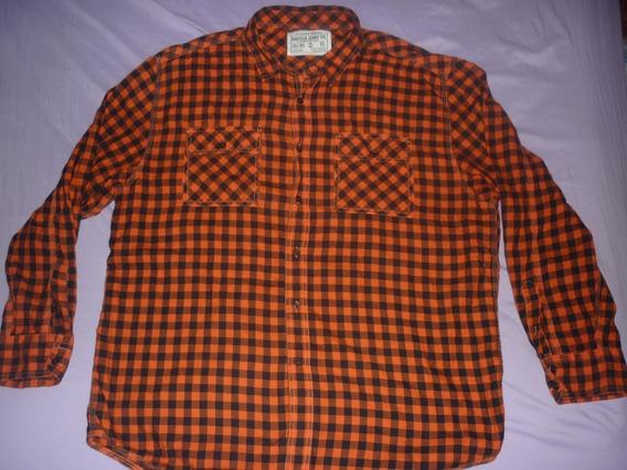 E Camisa Nautica Jeans Co Cuadrille Naranja Talle Xl Art 216