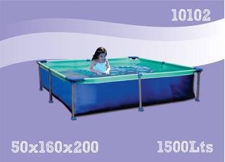 Pileta De Lona Olimpia Linea Azul Chica 1.60 X 2.00m