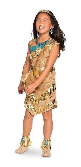 Vestido Princesa Pocahonta Original Da Loja Disney