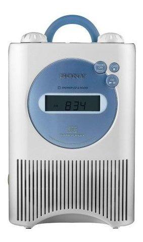 Sony Icf-cd73w Radio Reloj Am /fm /weather Shower Cd -