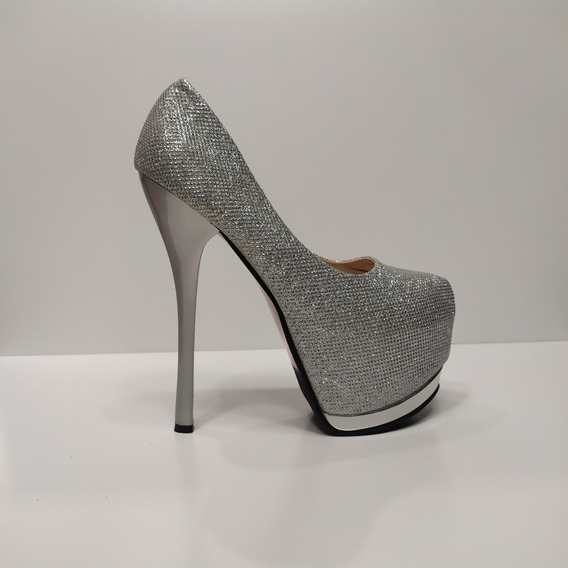Zapato Dama Taco Aguja De 16 Cm Unicos