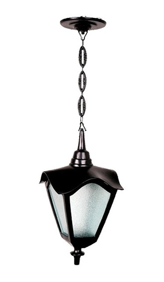Luminária De Teto Romana Menor Base E Corrente Alumínio 41cm