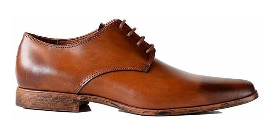 Zapato De Vestir Cuero Hombre Briganti Negro - Hcac00962
