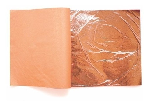50 Hojas De Cobre 16cm Arte Con 1/4 Pegamento E Instructivo