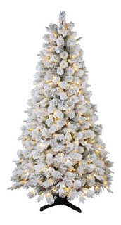 Arbol De Navidad Artificial 2.28m Giratorio Con 800 Luces Led Premium