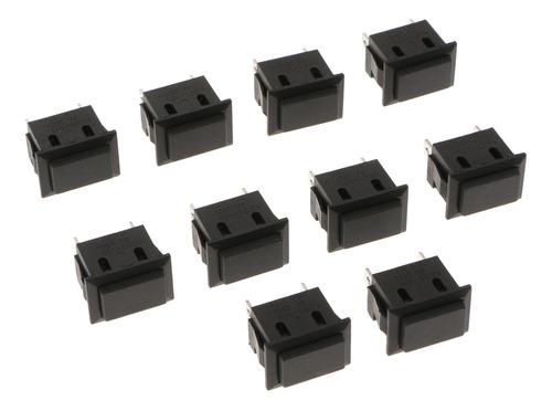 Imagen 1 de 6 de 10 Piezas Interruptor De Botón Pulsador Cuadrado Para