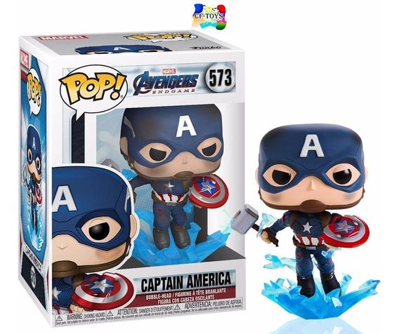 Capitan America Escudo End Game Funko Pop Martillo Thor Cf