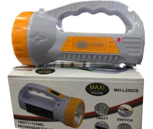 Linterna Recargable Led De 1 Watt+3 Watt X Cuatro Unidades