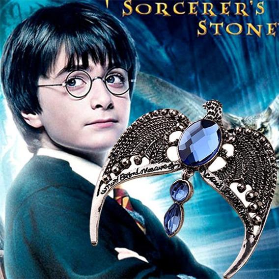 Colar Harry Potter Horcrux Diadema De Rowena Águia De Prata