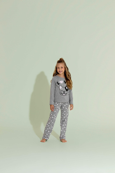 Pijama Longo 1/2 Malha Infantil - Ref. 14033