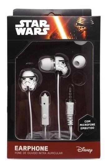 Fone De Ouvido Earphone P2 - Star Wars (storm Trooper)