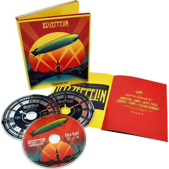 Led Zeppelin Celebration Day Blu-ray + 2 Cd Digipak Lacrado!