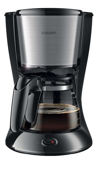Cafetera Philips Daily Collection HD7457 Negra/Plata 220V