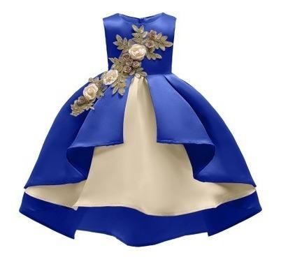 Vestido Corto Para Niñas Para Fiesta De 120cm De Largo