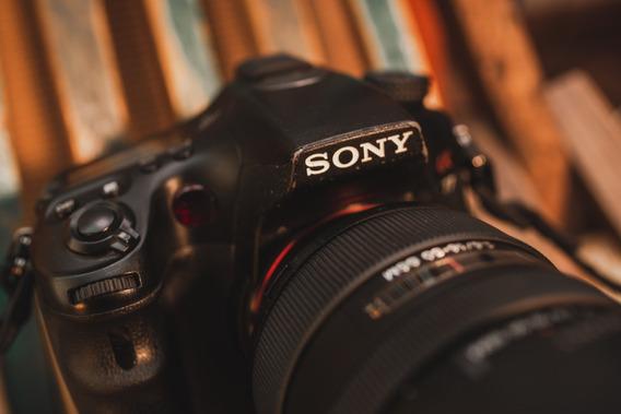 Câmera Sony A77 + Grip - A77v Profissional Lcd A-mount