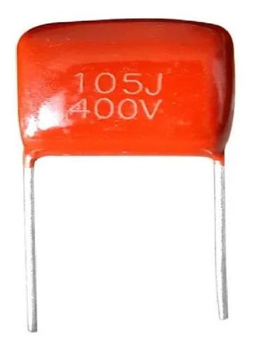 Imagen 1 de 2 de Capacitor Poliester 105 1uf X 400v X10 Unidades