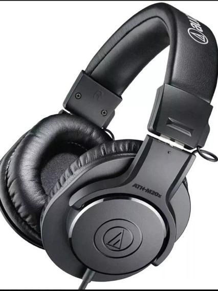 Audio Tecnica Fone Ath M20x- Profissional Para Monitoramento