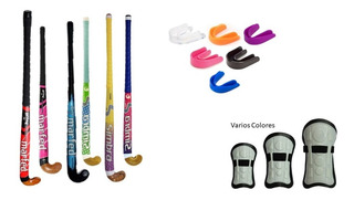 Combo Hockey Palo Madera + Canilleras + Bucal - Estacion Deportes Olivos