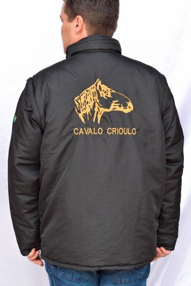 Jaqueta Cavalo Crioulo Vira Colete Gaúcho Rodeio Laço