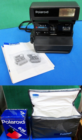 Máquina Fotografica Polaroid 636 Closeup Semi-nova Com Case