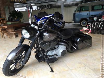 Harley-davidson Road King Totalmente Customizada Show De Bik