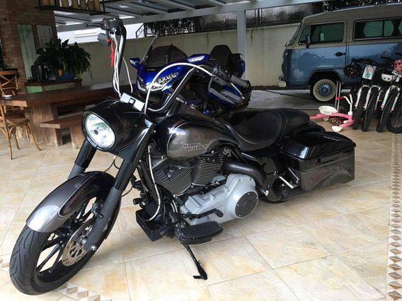 Harley-davidson Road King Totalmente Customizada Show De Bik