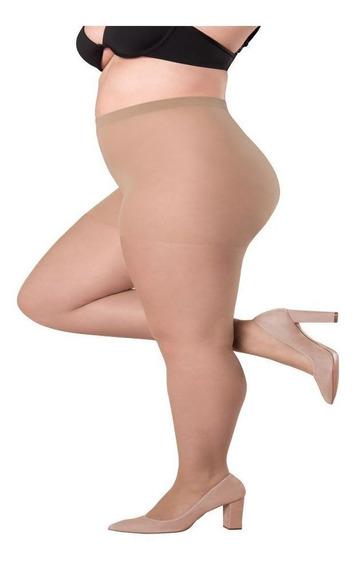 Meia Calça Clássica Fio 20 Loba Lupo Plus Size Até 120 Kg