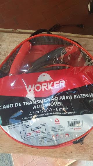 Cabo Para Bateria Automóvel- 200a - Worker