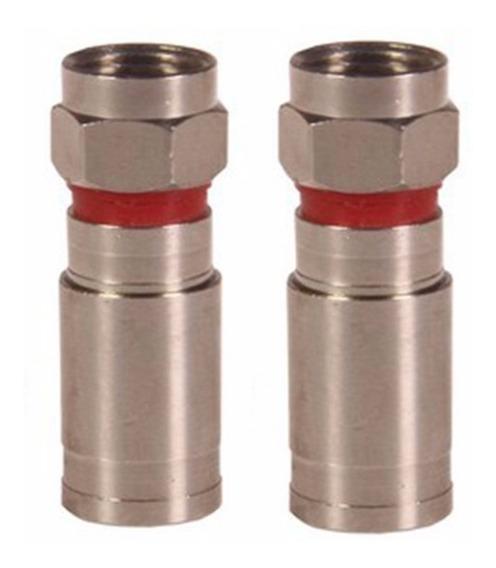 Conector Compressão Rg6 Blindado - 20 Unidades
