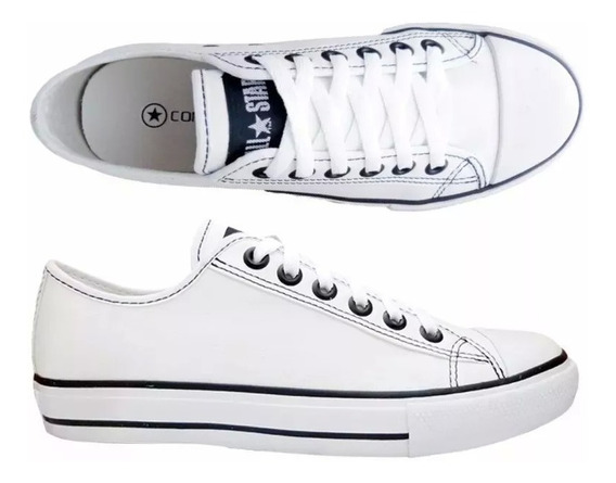 Tenis Converse All Star Ct As European Foto Original Couro E Lona