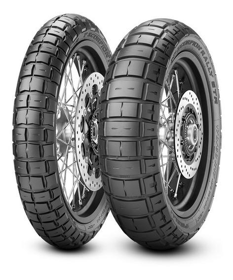 Par Pneus Pirelli Rally Str 90/90-21 150/70-18 Africa Twin