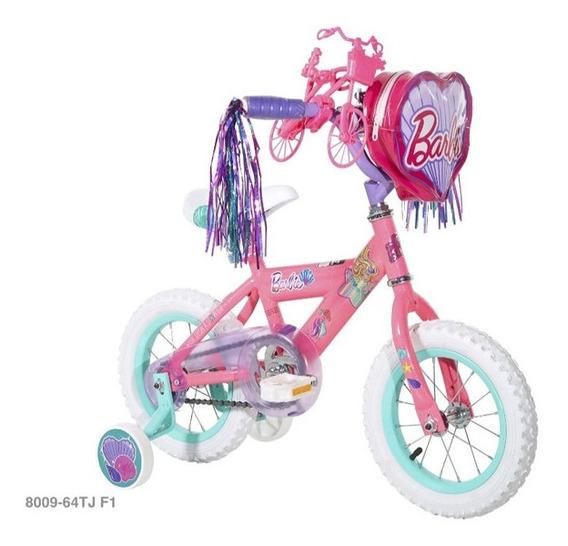 Bicicleta Para Niñas Barbie Original Rin 12