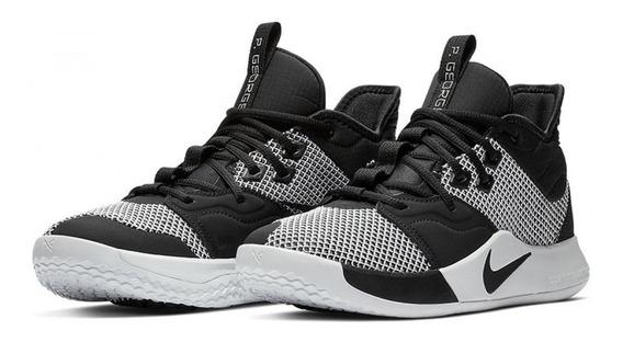 Tênis Nike Pg3 Paul George Monochrome Basketball