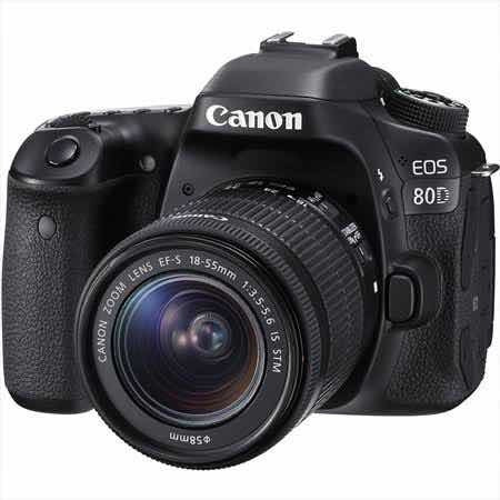 Camera Canon Eos 80d Kit 18-55mm4.5-5.6 Stm Is Com Garantia