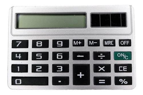 Imagen 1 de 5 de Calculadora Mini Solar De Bolsillo Recargable Sumar Restar ®