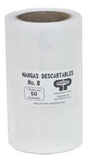 Rollo Mangas Descartables 50 Unidades Nro 8 Parpen 10x20cm