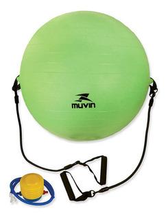 Bola De Pilates Com Extensor 65cm Blg-400 - Verde - Muvin