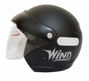 Capacete Taurus Wind V2 Aberto Preto Fosco 56 58