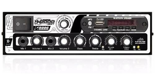 Amplificador Boog Receiver Usb Bluetooth Som Igreja 300w